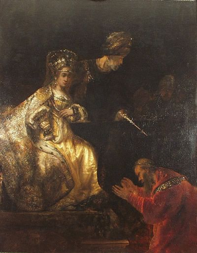 Haman Begging The Mercy Of Esther By Rembrandt Description From Jerryandgod Com I Searched For This On Bing Com Im Rembrandt Paintings Rembrandt Anne Boleyn