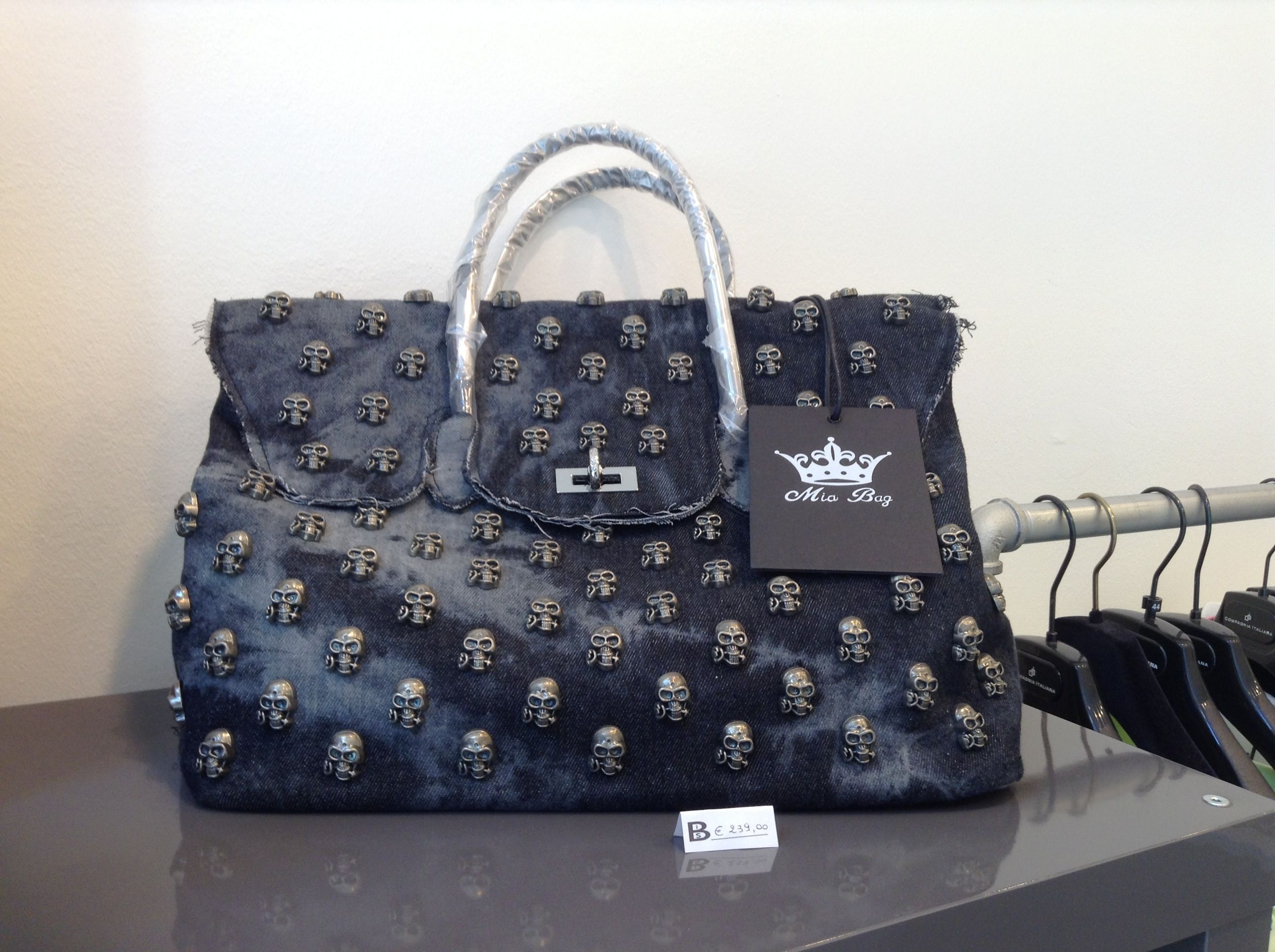 #italian #bag #denim #skulls $312