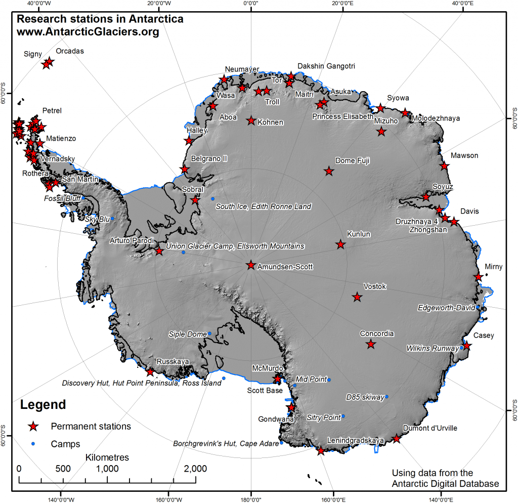 Research Stations And Summer Camps In Antarctica