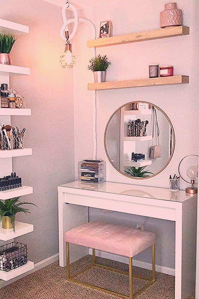 33 beliebtesten Makeup Vanity Table Designs 2019 - #Designs #forbedroom #Makeup ...