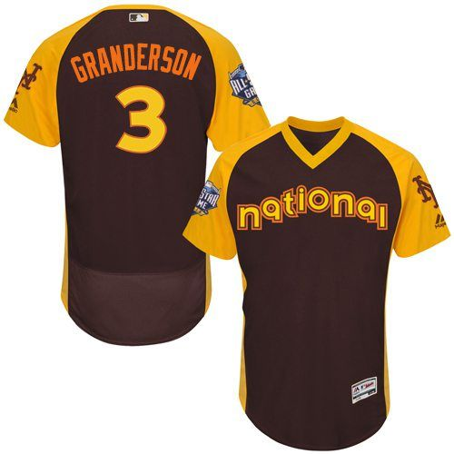 Curtis Granderson Brown 2016 MLB All-Star Jersey - Men's National League New York Mets #3 Cool Base Game Collection