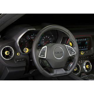 Chevy G6 Camaro Billet Interior Knob Kit - Bright Yellow