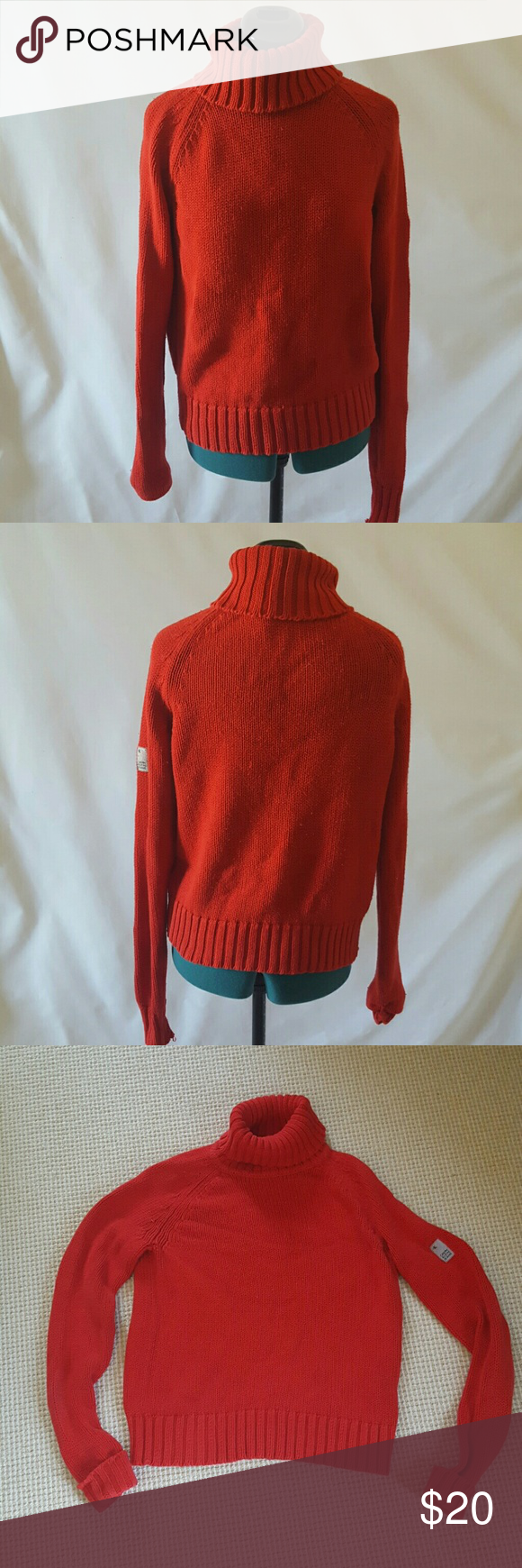 Calvin Klein red turtleneck sweater size S Calvin Klein red ...