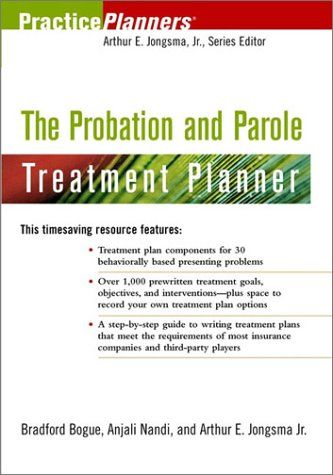 Bestseller Books Online The Probation And Parole Treatment Planner