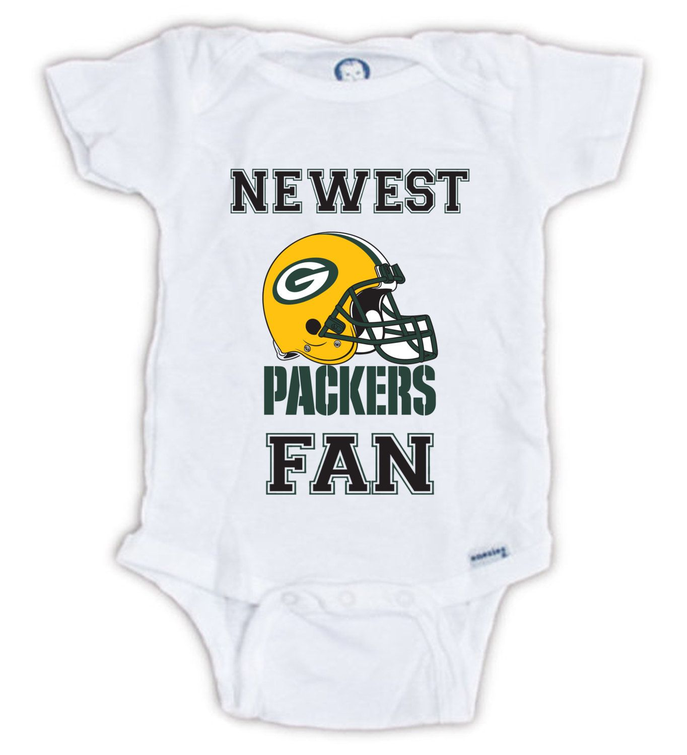 5589e1978 Green Bay PACKERS FAN Baby Onesie, Baby Bodysuit, Football Onesie, Great  Baby Shower Gift, Mother's Day, Father's Day, Packers Fan Onesie by  JujuApparel on ...