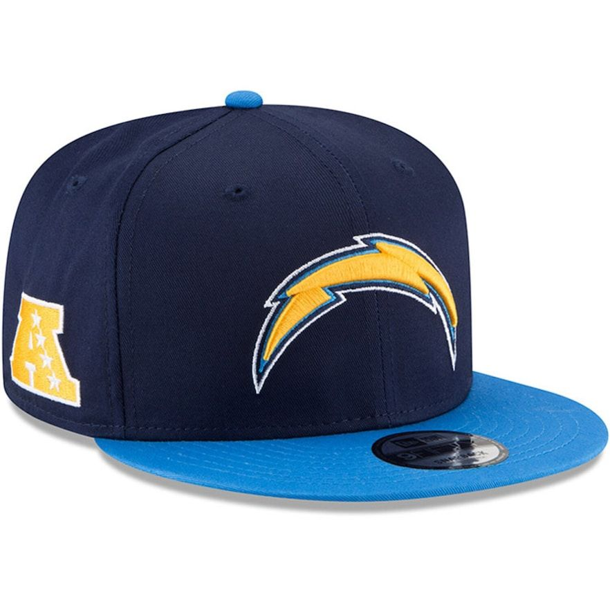 Youth New Era Navy Blue Los Angeles Chargers Baycik 9fifty Snapback Adjustable Hat Adjustable Hat New Era Los Angeles Chargers
