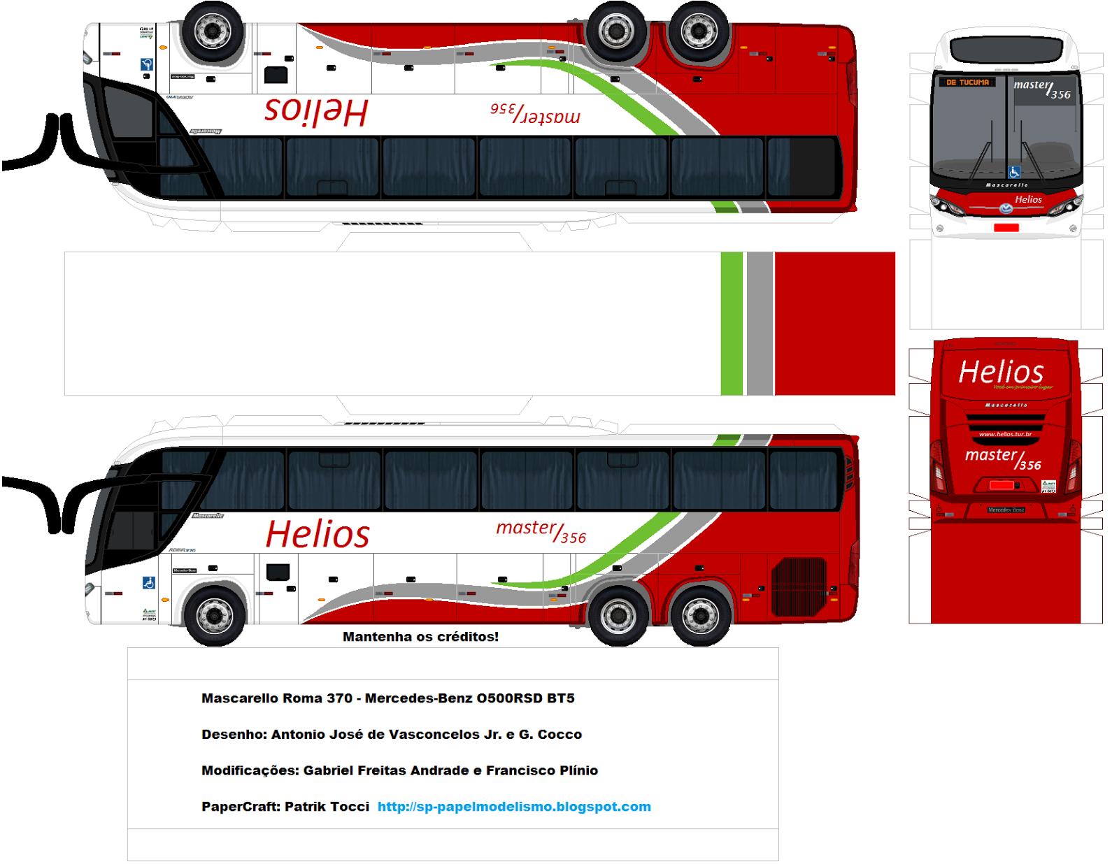 Via C3 A7 C3 A3o Helios Mascarello Roma 370 Mercedes Benz O500rsd Bt5 Png 1600 1236 버스 종이접기