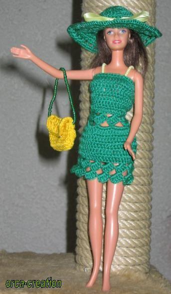 Sommerkleid Für Barbie Creadoocom Puppenkleidung Häkeln