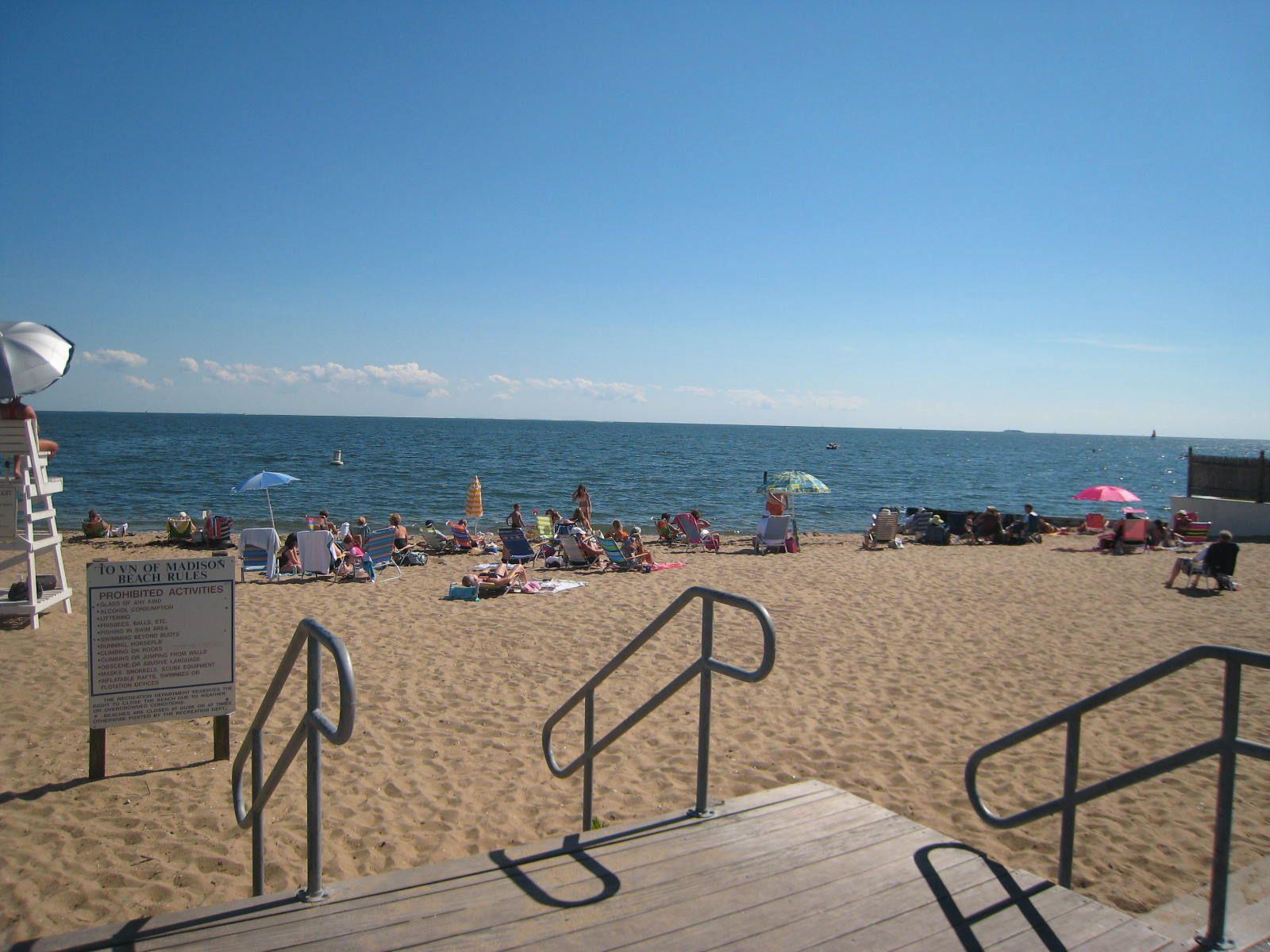 East Wharf Beach, Madison CT Connecticut usa