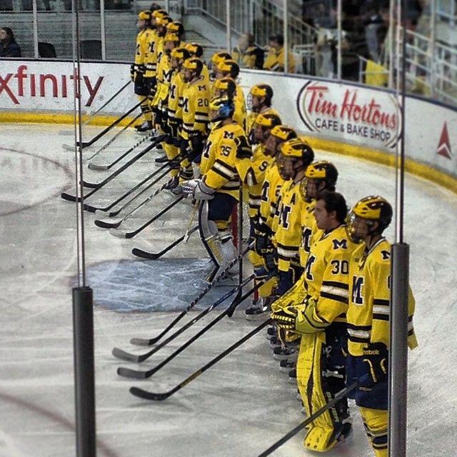 Men S Hockey Line Up Michigan Go Blue Michigan Sports Michigan Hockey