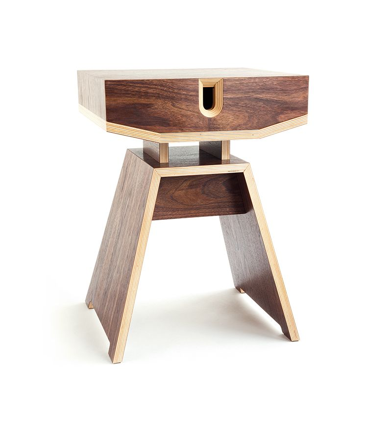 Plywood Bedside Table Materials Birch Plywood Nut Veneer