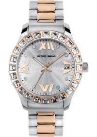 7fa6ba08401 JACQUES LEMANS Rome Crystals Two Tone Stainless Steel 1-1517N - http ...