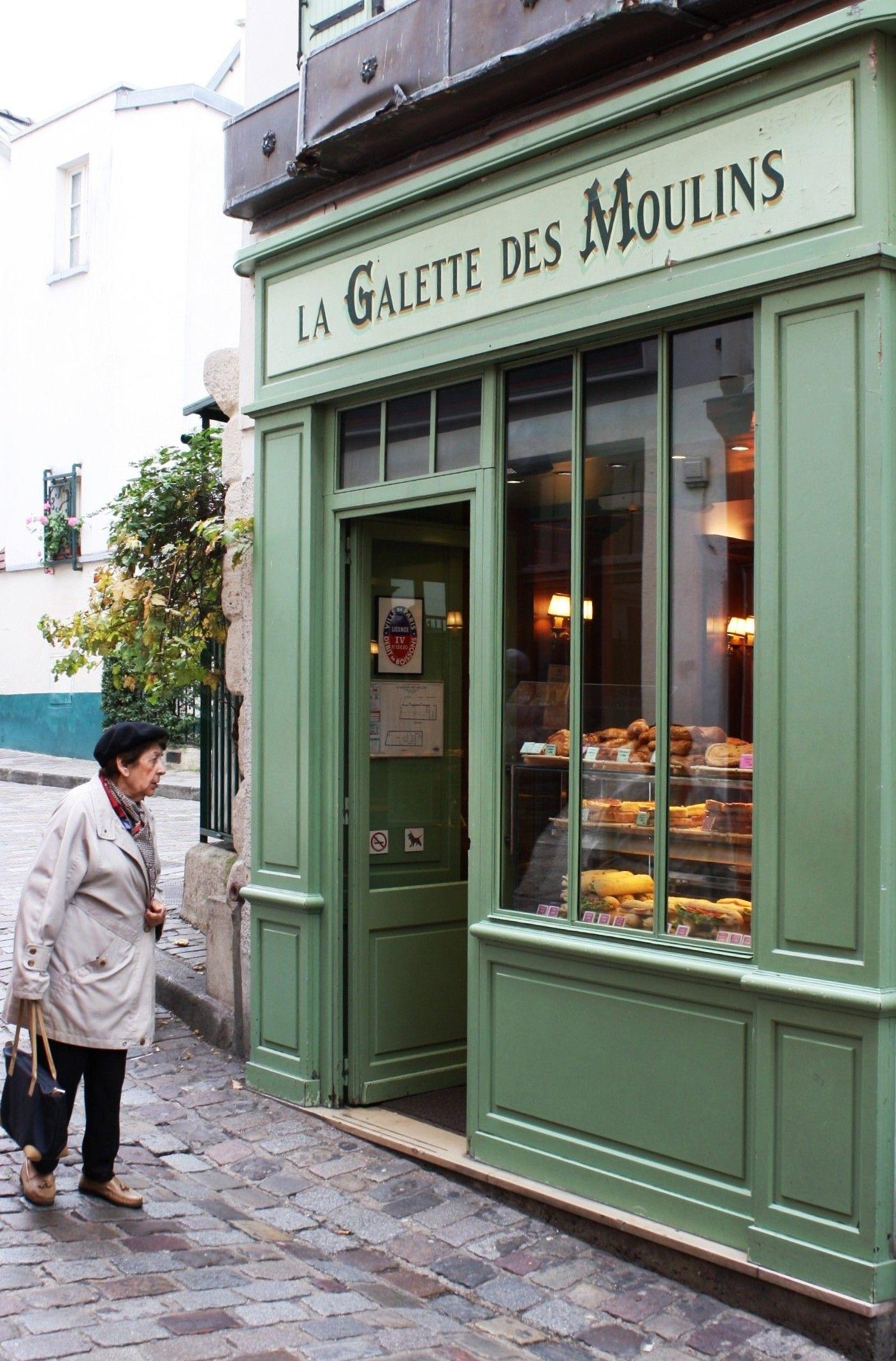 """A bakery shop """"La Galette des Moulins"""" in Montmartre, located on Rue Norvins, Paris, IIe-de"""