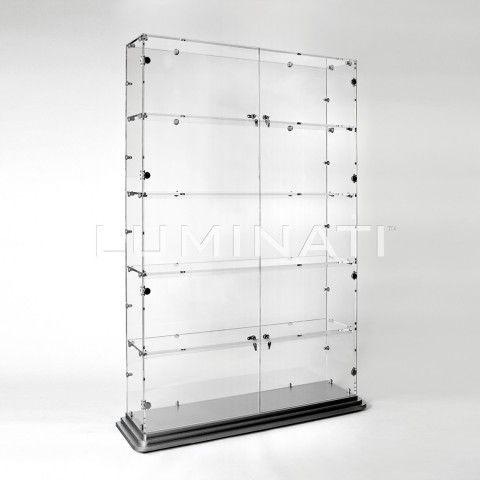 Large retail display cabinet, with locking front doors. Made from ...