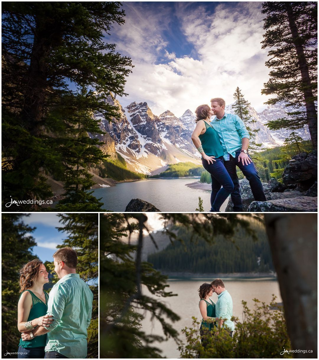 One of our favourite photos from Taryn and Adam's #Engagement Session. #EngagementPhotos by JM Photography © 2016 http://www.JMweddings.ca #EngagementPhotography #JMweddings #JMphotography 160604_558-Calgary-Engagement-Photographers-Moraine-Lake-Banff-JM_Photography