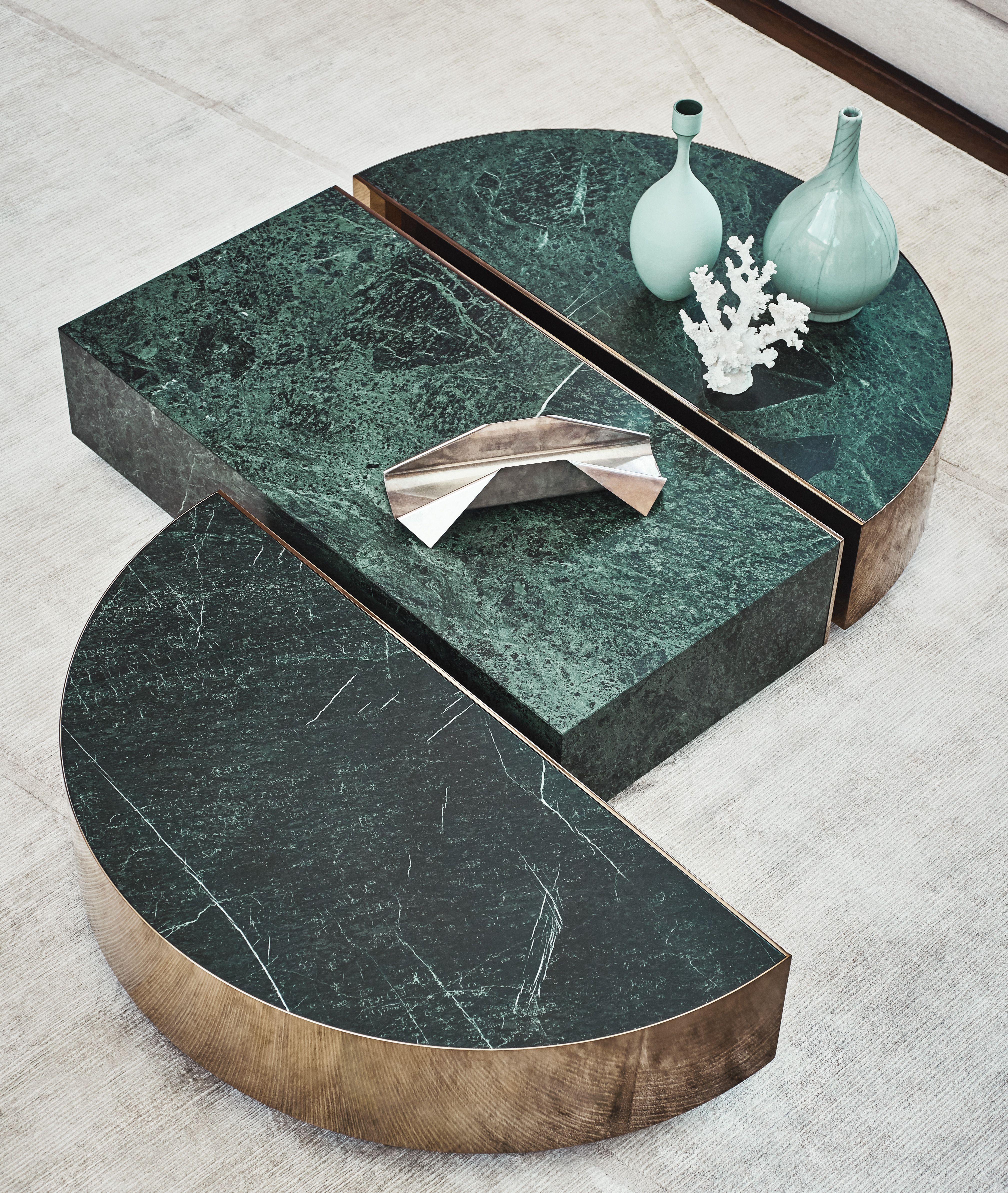 prisme and eclipse marble coffee tables fendicasa by luxury living group luxury italian furniture marble coffee table contemporary furniture design