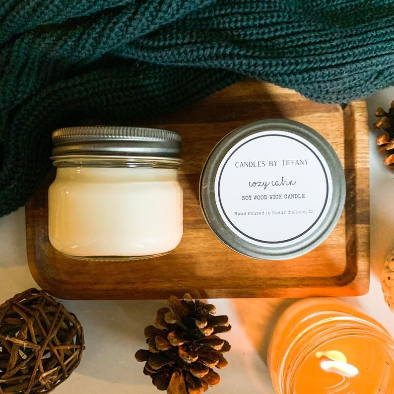 Fall 4oz Mason Jar Candles Choose Your Scent Fall Soy Etsy Fall Soy Candles Candle Jars Mason Jar Candles