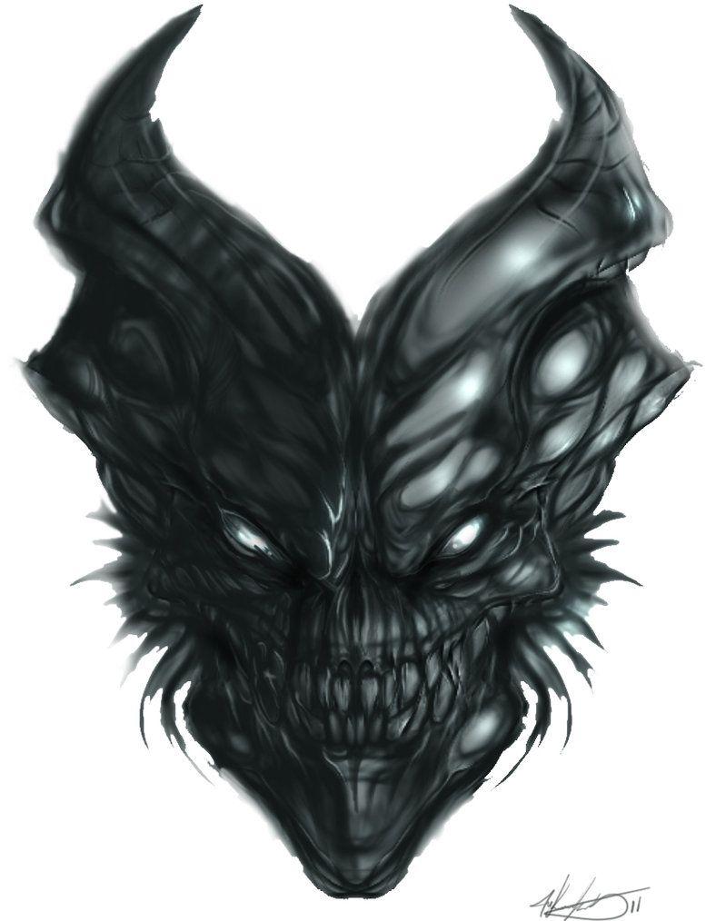 demon skull by mkounelakis on deviantart skullz legion of the