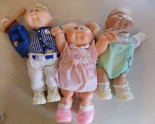 Lot of 3 Vintage Preemie Cabbage Patch Dolls with Outfits #B