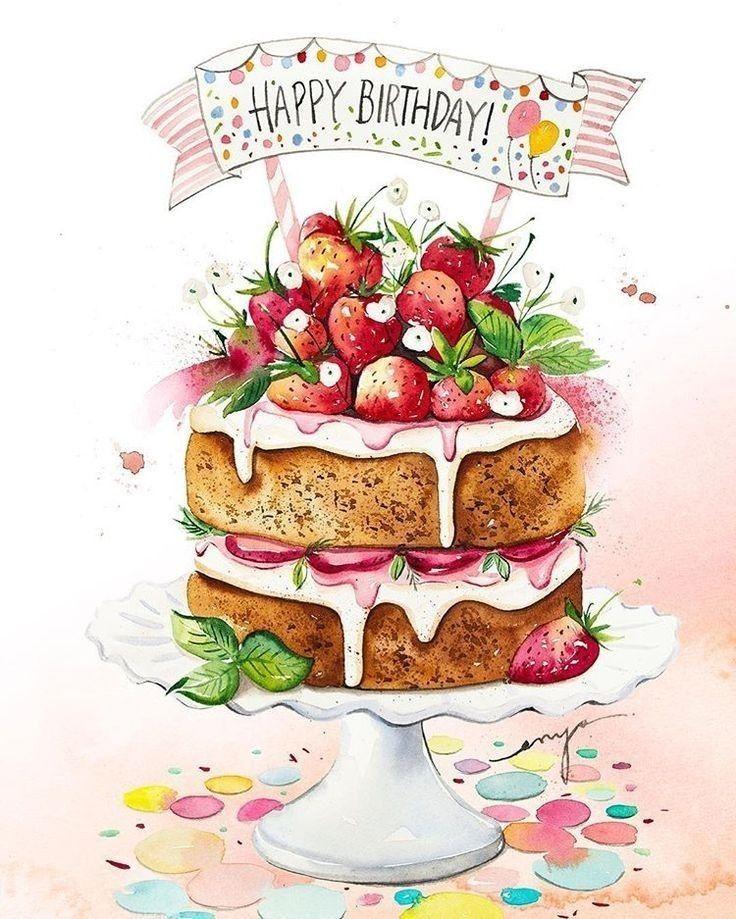 in 2020 Happy birthday art, Happy birthday greetings