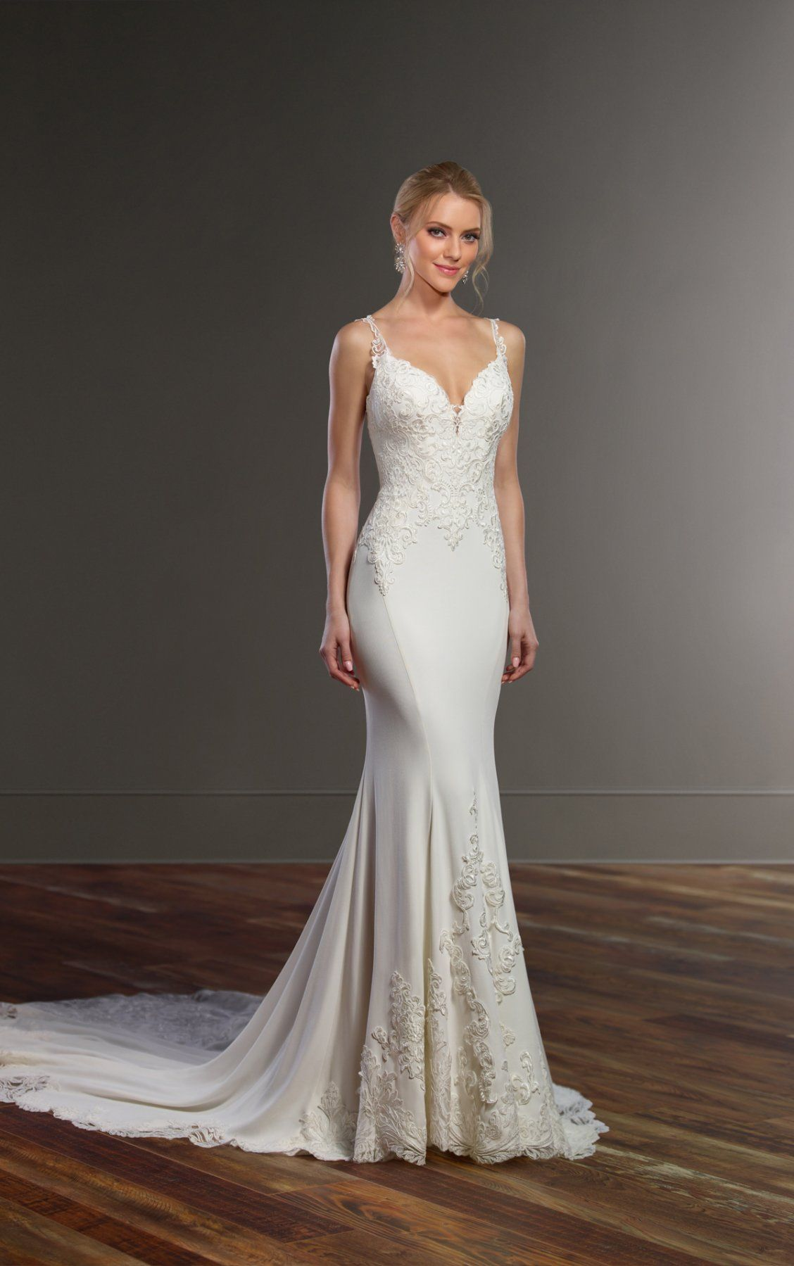 Elegant fitted wedding dresses  Wedding Dresses  Wedding dress Romantic and Gowns