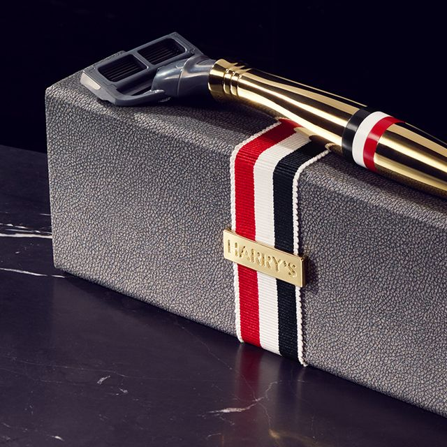 Bringing fashion to the world of grooming. Introducing the limited-edition Thom Browne by Harry's 24K gold razor.