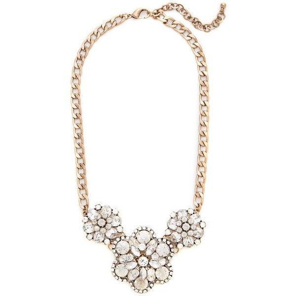 Crystal Floral Bib Necklace $59