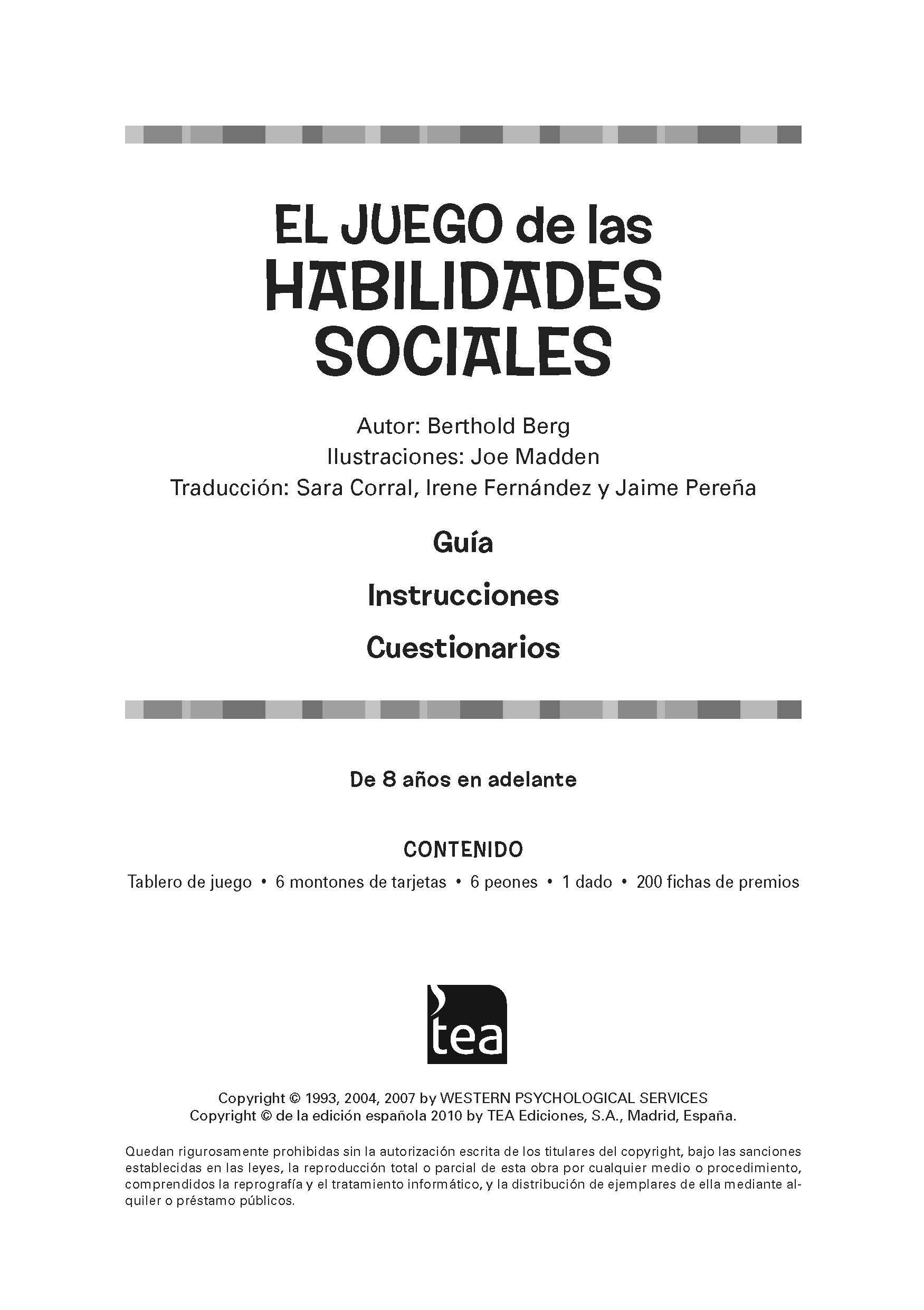 """Manual descargable del """"Juego de las habilidades sociales"""", Programa de  intervención en forma de #juego para enseñar a los #niños y adolescentes  una serie ..."""