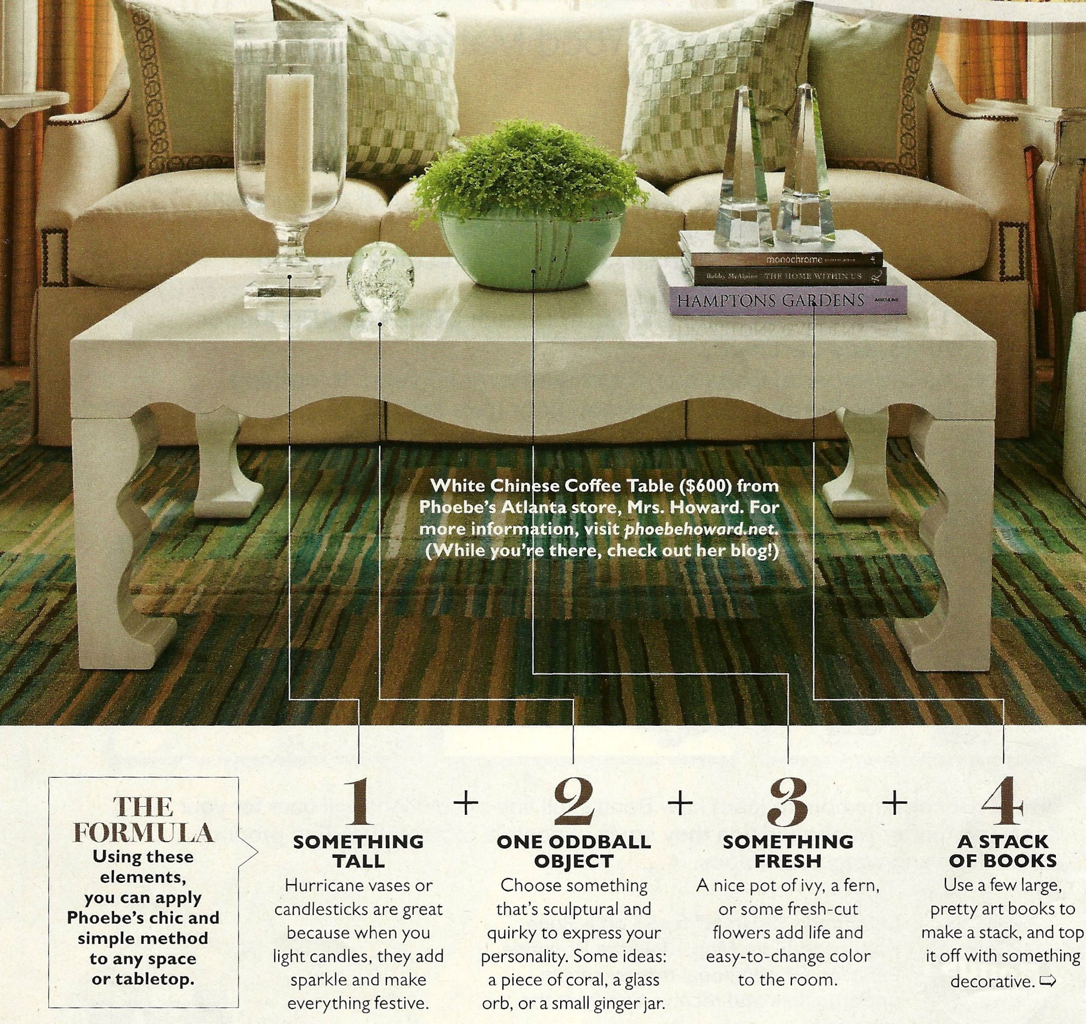 How To Decorate Coffee Table From Southern Living
