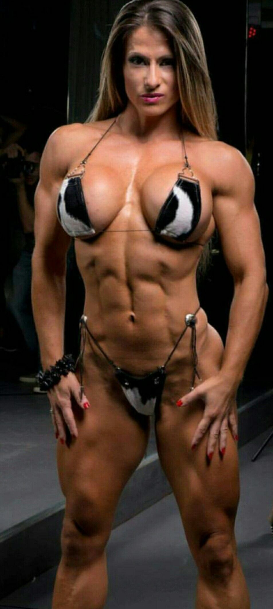 Sexy female muscle
