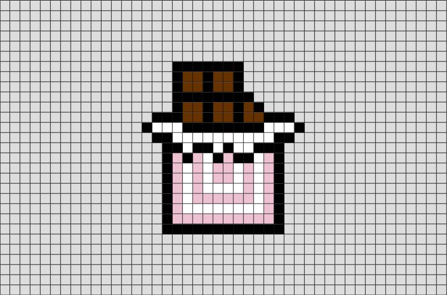 Chocolate Pixel Art Minecraft Pixel Art Pixel Art Pixel