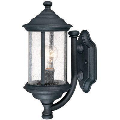 Dolan Designs Walnut Grove 1 Light Outdoor Wall lantern Finish: Black