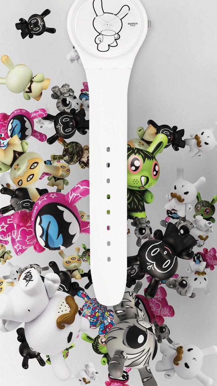 Kidrobot and Swatch... beautiful ad!!!!