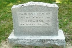 Gravesite of my maternal grandparents, Andrew T Brazil and Anna Enos Silva Brazil in Taunton, MA. ........ this website can help you find the cemetery where your ancestors are buried.  Must have at least their full name name and year of their death.