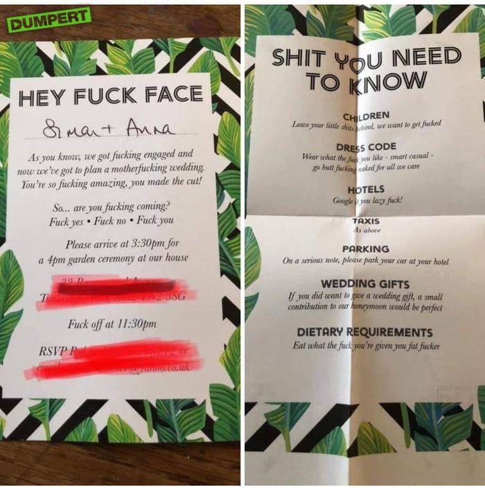 Hey f**k face...