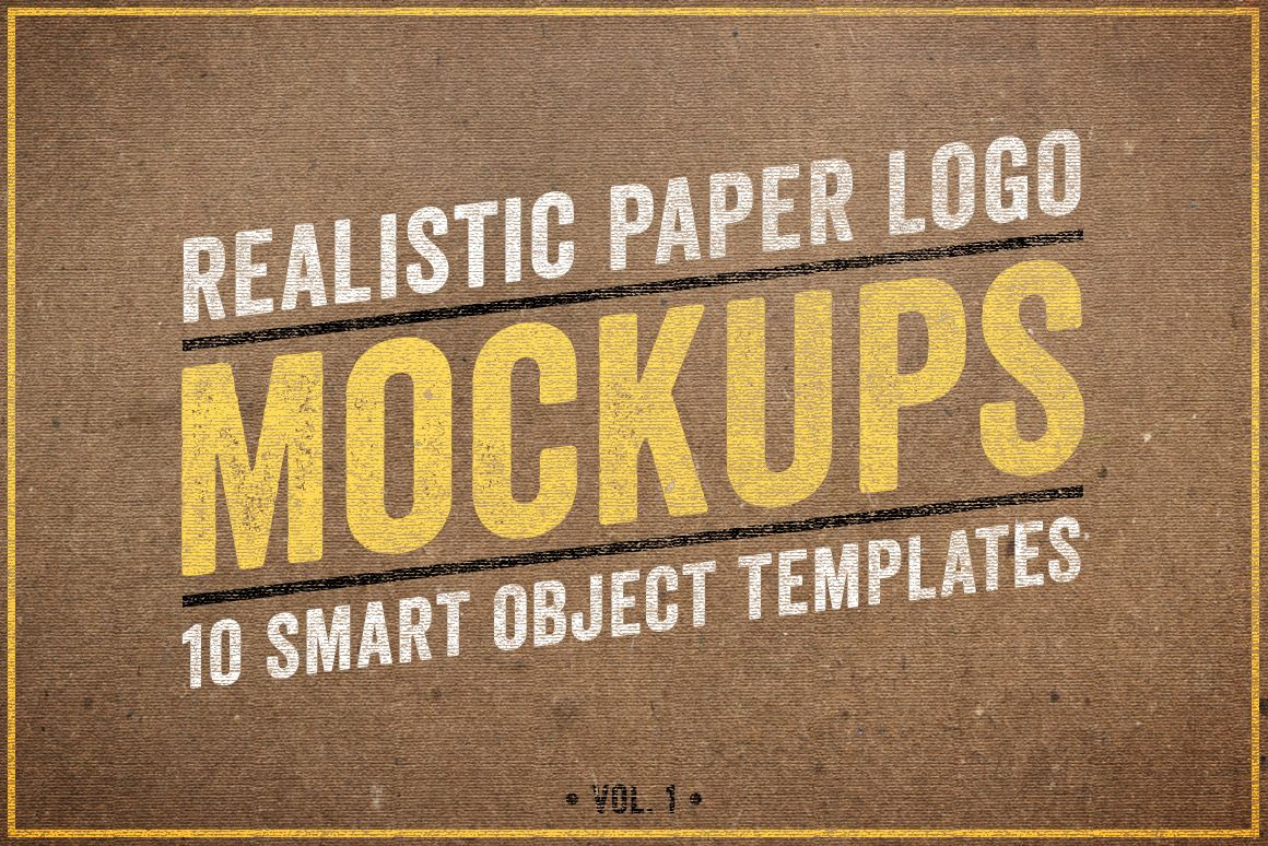 Paper Logo Mockups Volume 1 by Design Panoply on Creative Market