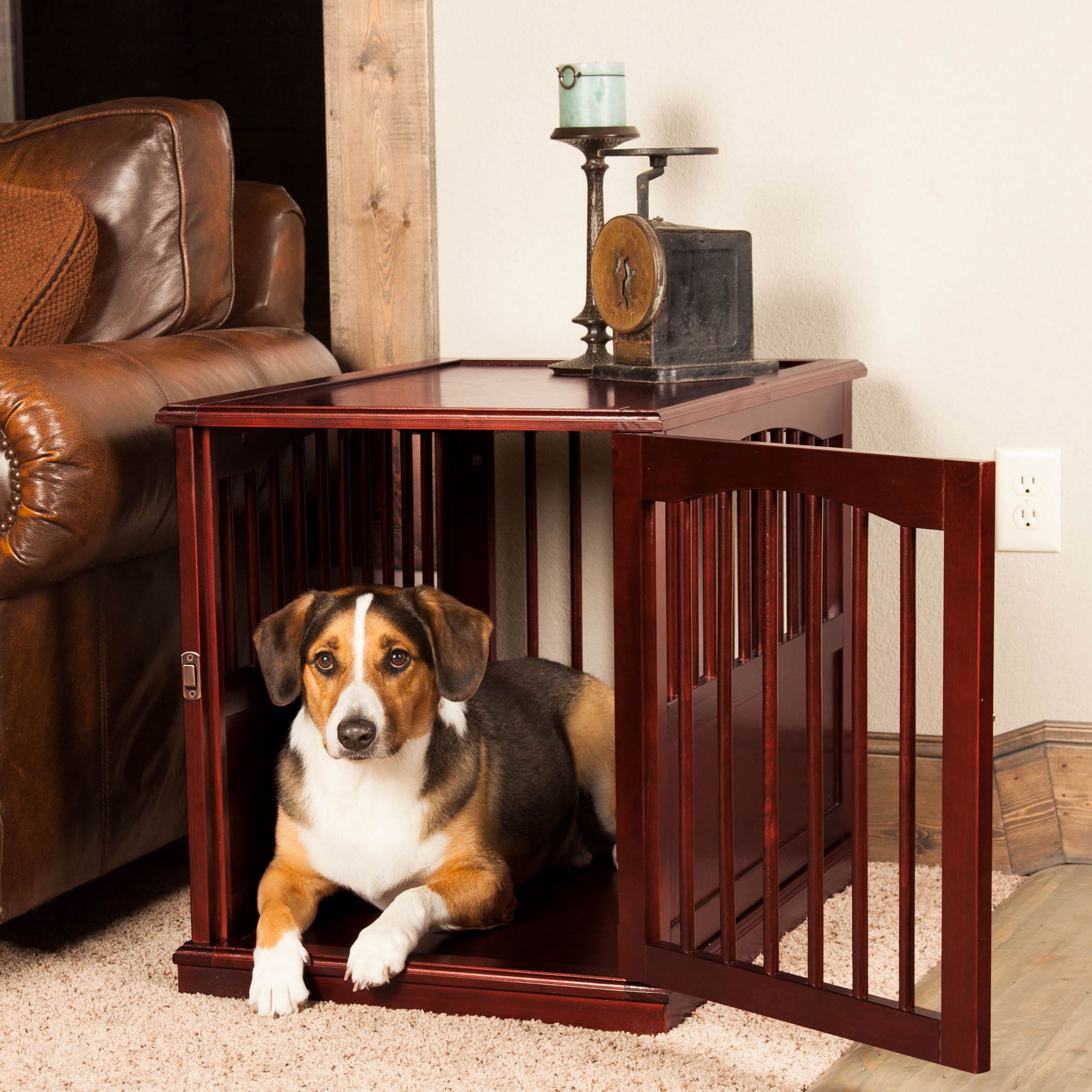 Overstock Com Online Shopping Bedding Furniture Electronics Jewelry Clothing More Dog Kennel End Table Dog Crate Wooden Dog Crate