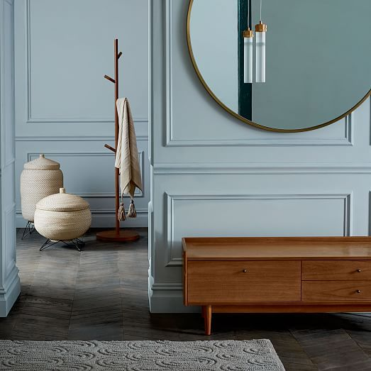 Outstanding Mid Century Entryway Bench Acorn At West Elm Benches Cjindustries Chair Design For Home Cjindustriesco