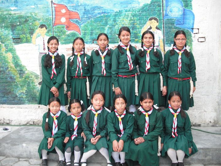 Brownie Guides from Nepal