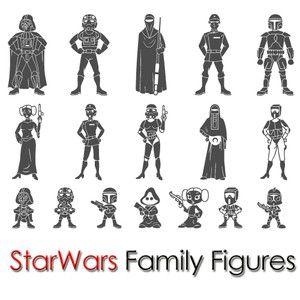 Custom Star Wars Family Sticker Figure Car Window Vinyl Decal   eBay