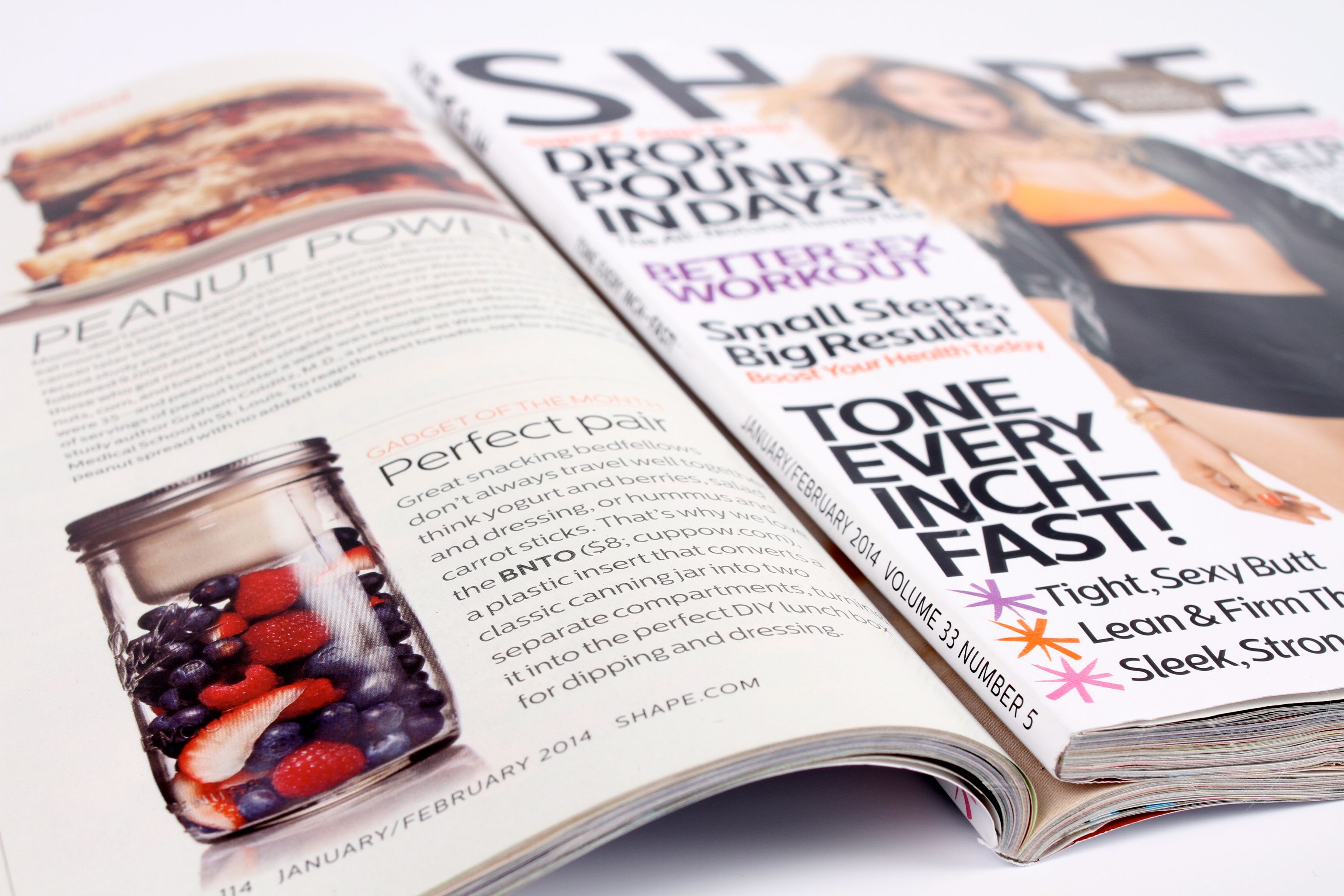 Check out BNTO playing the role of 'Gadget of the Month' in the January edition of SHAPE Magazine!
