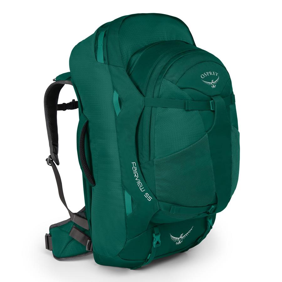 Osprey Fairview 55 Women's Travel Rucksack - Rainforest Green in 2020    Travel backpack, Cute backpacks for traveling, Best travel backpack
