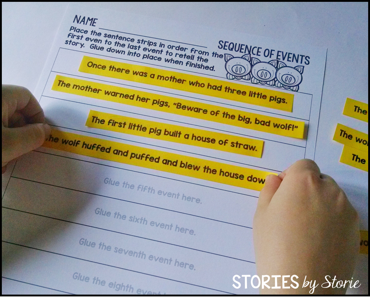Sequence Of Events Practice Using The Three Little Pigs