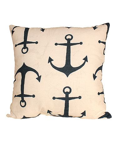 Loving this Navy Anchored Throw Pillow on #zulily! #zulilyfinds