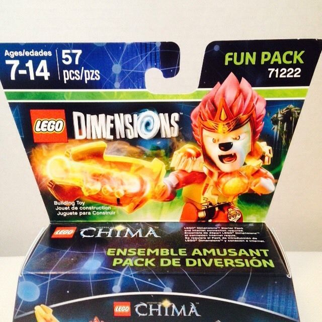 Lego Dimensions 71222 CHIMA Laval Mighty Lion Rider Fire Lion Lion Blazer 3 in 1 #LEGO