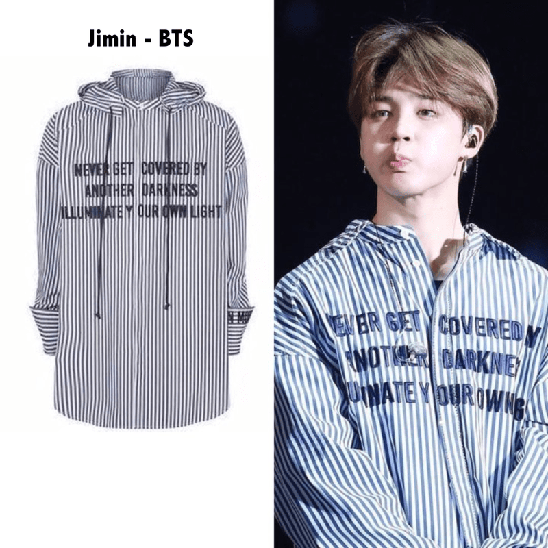 f50352df BTS Jimin Our Own Light Shirt in 2019 | K-pop stars clothes ...