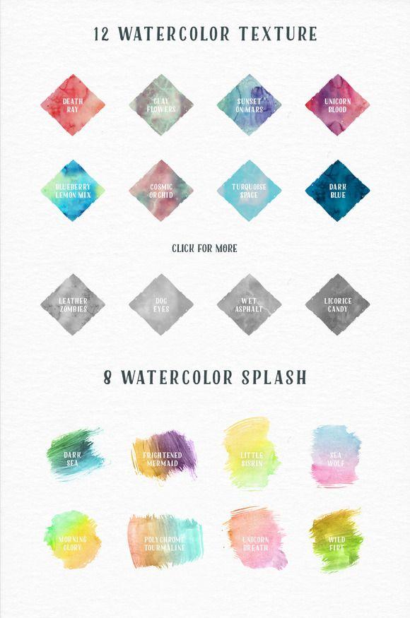 Aquaway Watercolored Vector Pack Watercolor Splash Colors And