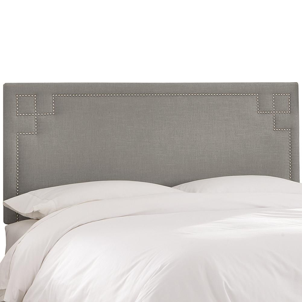 Skyline Furniture Nail Button Headboard - Queen - Tan | Products