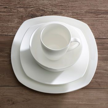 Mikasa 16-pc. Arista Soft Square Bone China Dinnerware Set : mikasa square dinnerware - Pezcame.Com