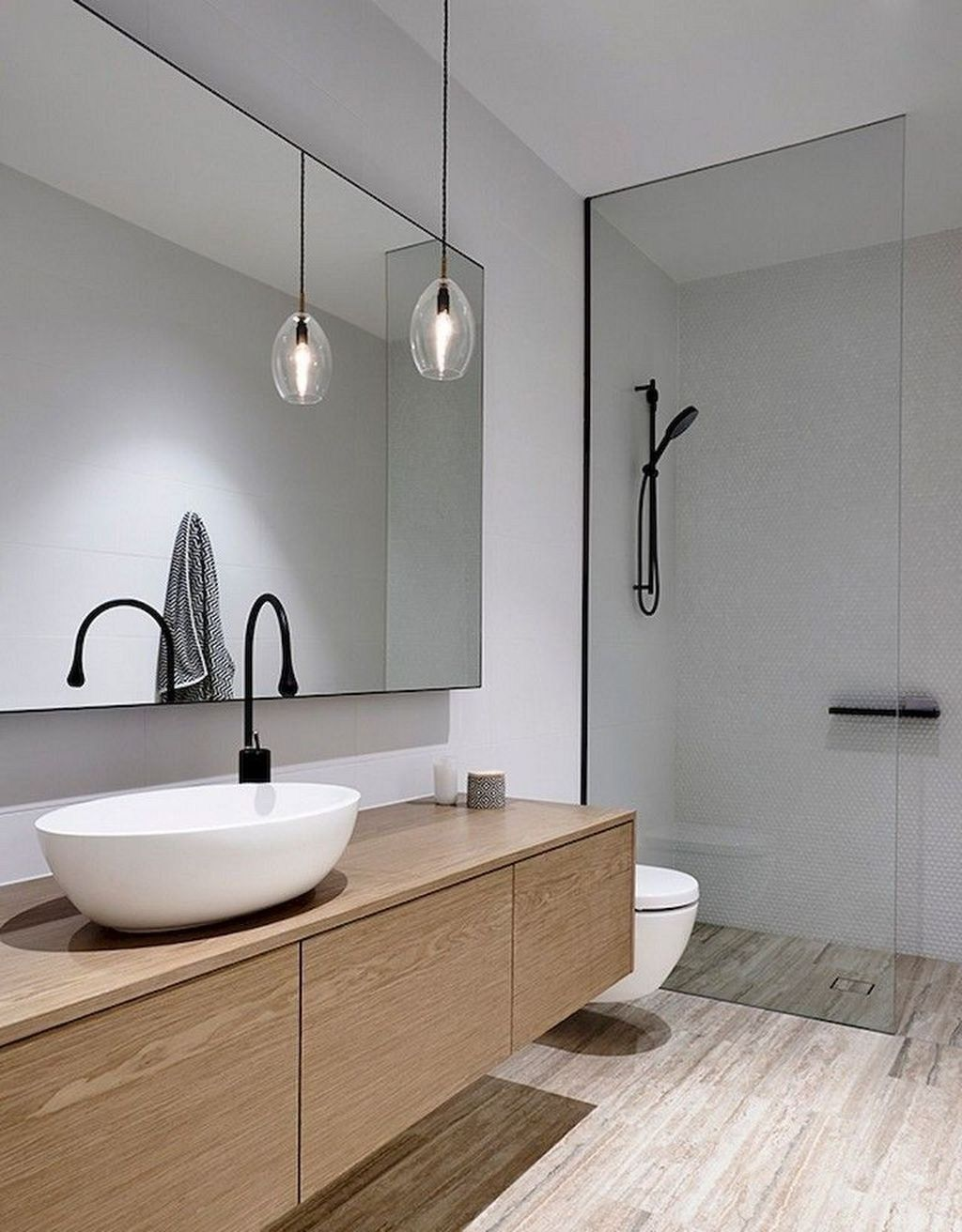 48 The Best Ideas To Creating Cozy Minimalist Bathroom Pimphomee Minimalist Bathroom Design Bathroom Design Inspiration Minimalist Bathroom Minimalist bathroom image inspiration